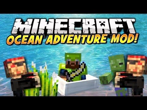 Minecraft - OCEAN ADVENTURES MOD! (Speedboats, Sushi, Treasure & More!) Mod Showcase