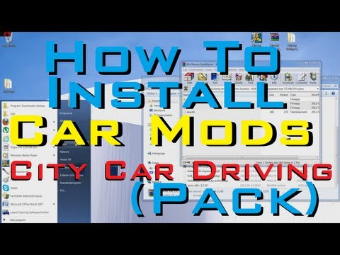 City Car Driving 1.2.5 - how to install CAR MODS PACK (2013) tutorial. guide & download.