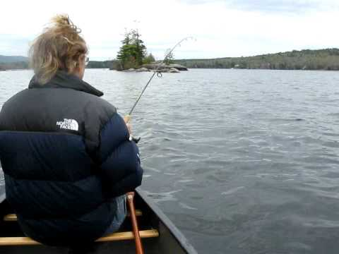 Fishing Beautiful Pleasant Lake New Hampshire