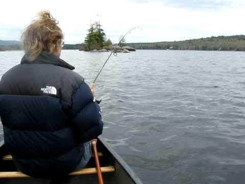 Fishing Beautiful Pleasant Lake New Hampshire