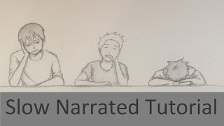 How To Draw 3 Bored Students At School In Anime [Slow Narrated Tutorial]
