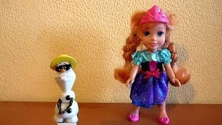 3D VIDEO: Lalka Kraina Lodu - Frozen Young Anna and Olaf Doll Toy 겨울왕국