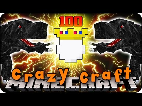 Minecraft Mods - CRAZY CRAFT 2.0 - Ep # 100 'THE KING & MOBZILLA FIGHTS!' (Superhero / Orespawn Mod)