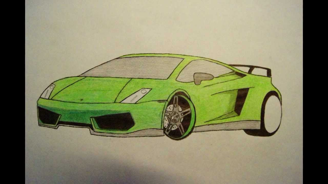 how to draw a ferrari easy way