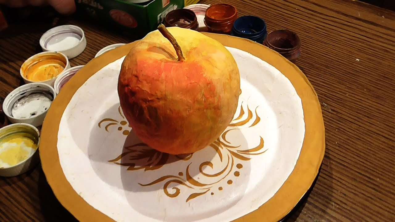 Папье-маше для детей тарелка на пва
