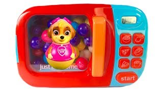 Learn Colors with Paw Patrol Magical Microwave Gumballs Weebles | Fizzy Fun Toys