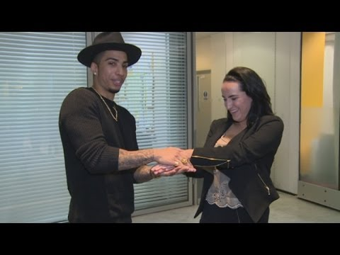 Magician Troy leaves reporter speechless with card trick that reveals her private details