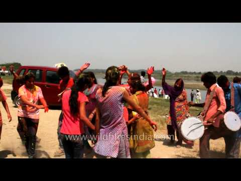 Procession Accompanied With Dancing And Singing In Ganesh Chaturthi Celebration video