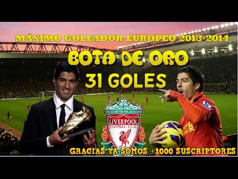 LUIS SUAREZ| BOTA DE ORO 2013-2014| TODOS SUS 31 GOLES| ALL 31 GOALS