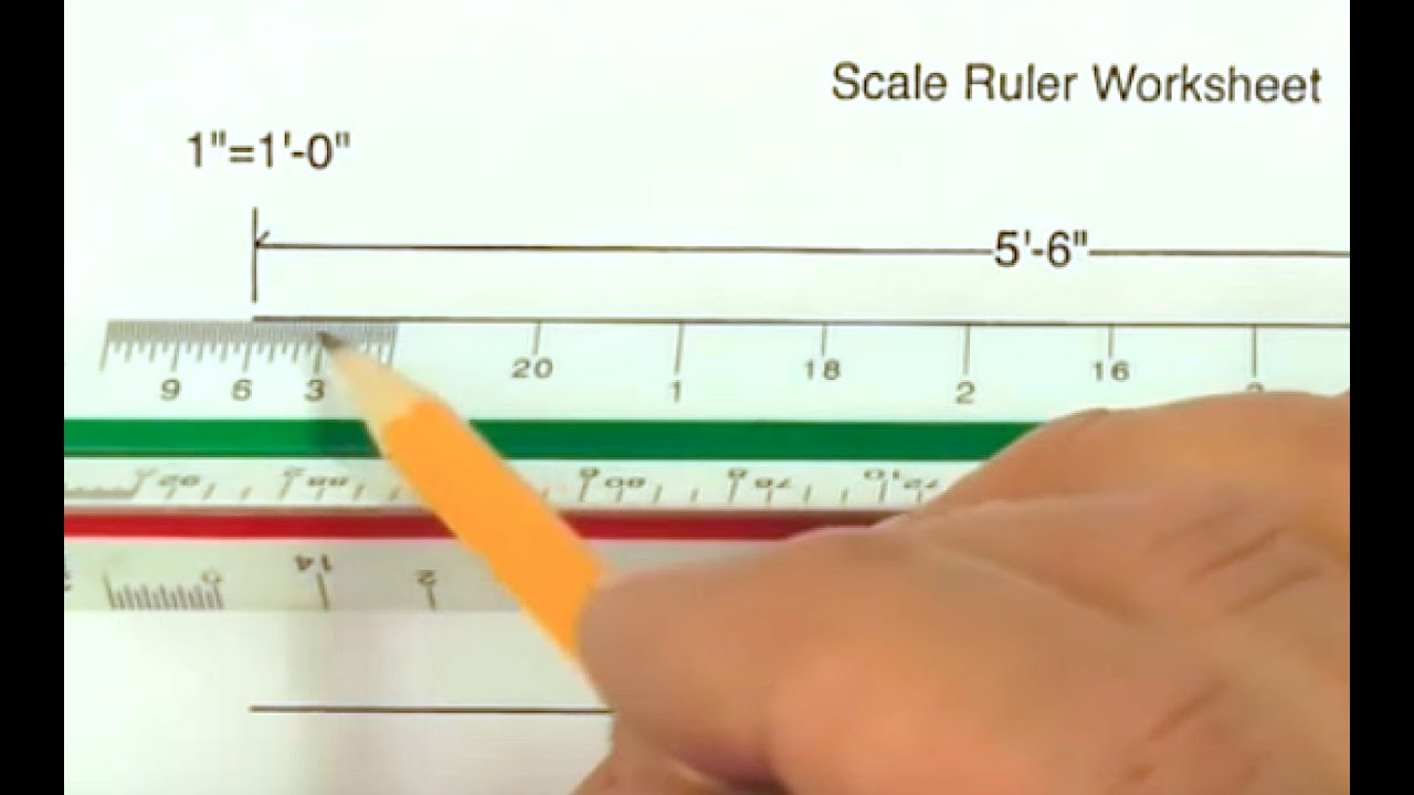 How to use a Scale Ruler on our Worksheet - YouTube