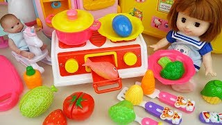 Baby Doli and Kitchen fruit toys baby doll surprise eggs play