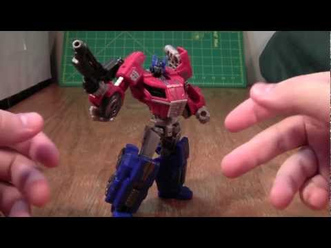 Transformers Fall of Cybertron Optimus Prime Review (Generations Deluxe Toy)