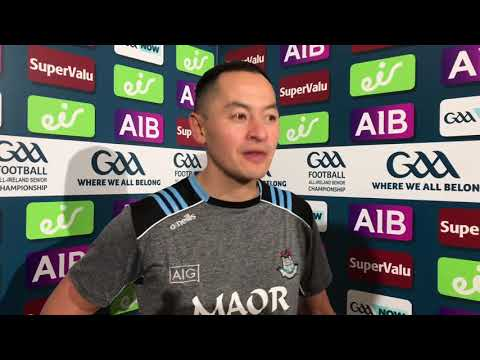 Jason Sherlock reacts to Dublin's All-Ireland Final win over Kerry