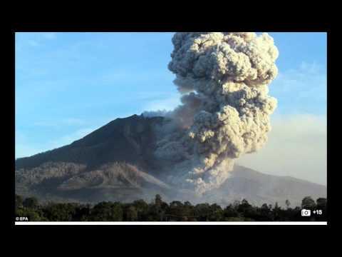 Volcano Erupting Indonesian Mount Sinabung