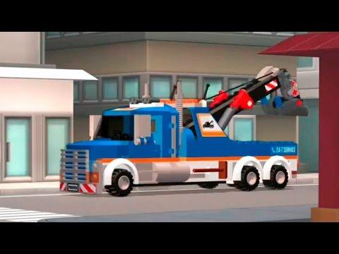 Мультики про машинки - Эвакуатор Полицейская машина и Пожарная машина.