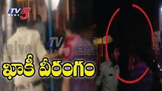 పోలీసుల దౌర్జన్యం..!   Police Constable Over Action On Bus Operator