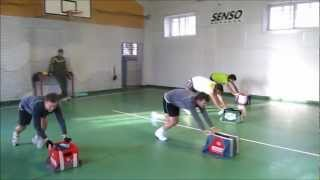 Functional Tennis - Speed training using push sled for tennis players