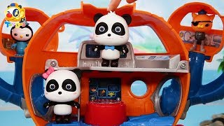 Baby Panda Ocean Exploring Team | Fight against Big Whale | Kids Toy Story | ToyBus
