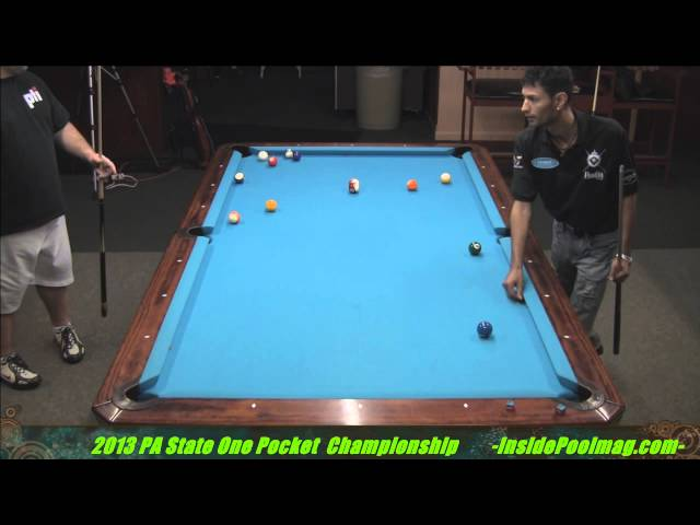 PA State One Pocket Champoionships Semi Finals Adam Smith vs. Bill McCollum