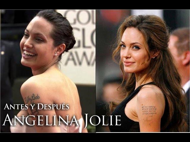 ANTES Y DESPUÉS de los famosos Angelina Jolie // Día de las madres