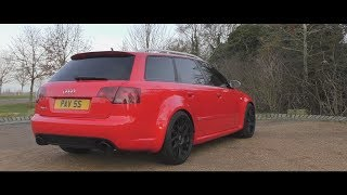 Audi RS4 B7 Fully Straight Piped Exhaust!