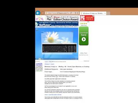 Free Online Windows 8 Quick Search Video Training Support 321Learn.com