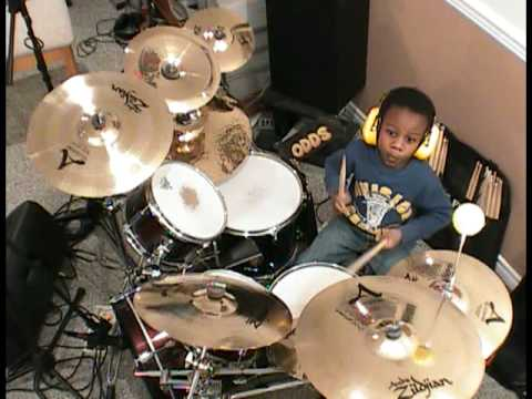 Avenged Sevenfold - Afterlife, Drum Cover, 4 Year old Drummer, Jonah Rocks
