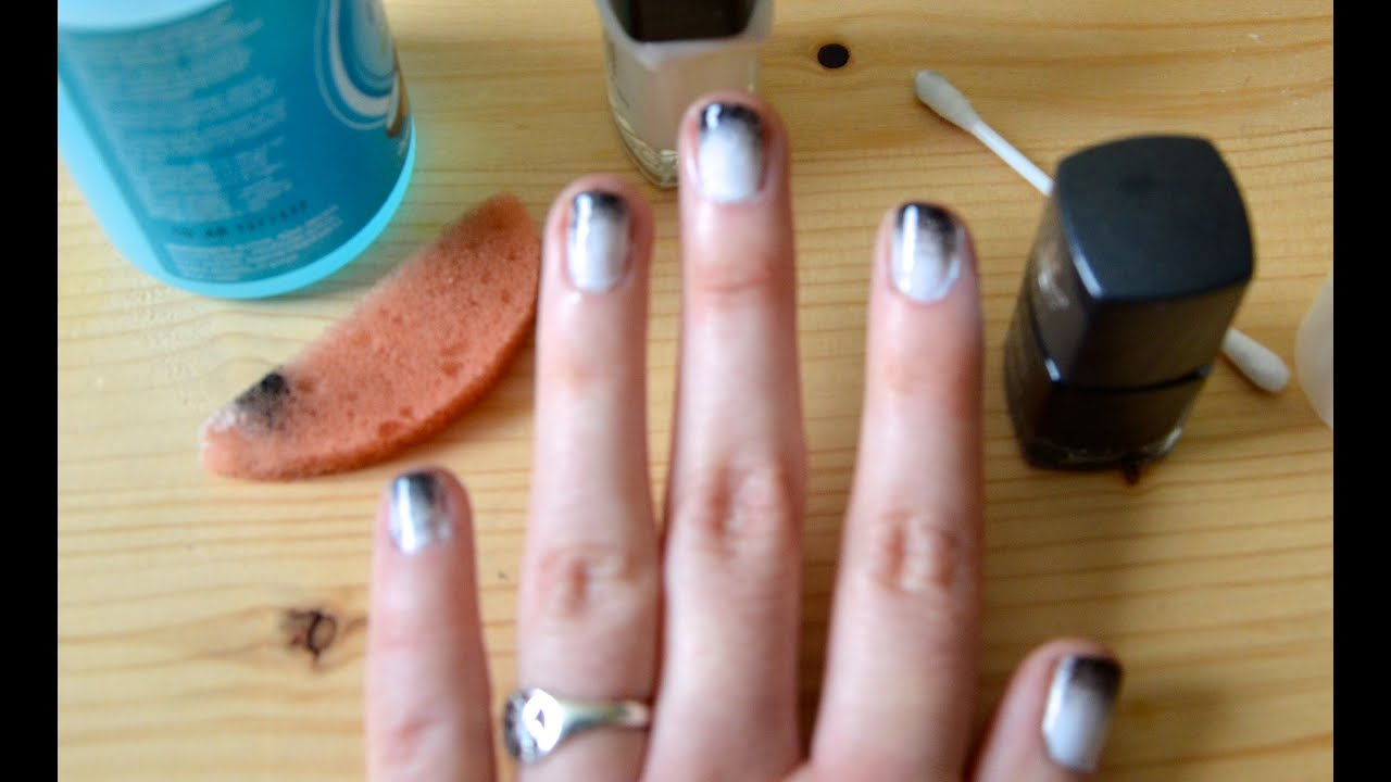 Super Quick And Easy Ombre Nails Tutorial Monochrome