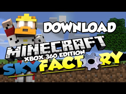 Minecraft [XBOX360/ONE] MODDED SKYFACTORY (Map Download)