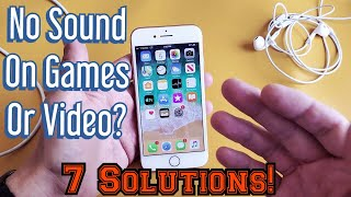 iPhone 8 / 8 Plus: No Sound on Games or Video? FIXED!!!!