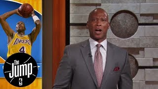 Byron Scott has two reactions to Warriors' Jordan Bell's slam dunk | The Jump | ESPN
