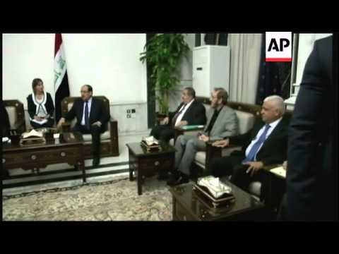 Secretary of State John Kerry and Iraqi Prime Minister Nouri al-Malaki met in Baghdad on Monday. Ker