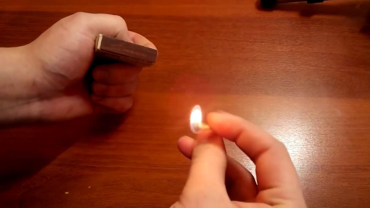 Как зажигать спички ногтем