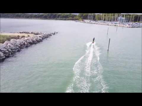 Jetsurf prima uscita con drone Eraclea mp3
