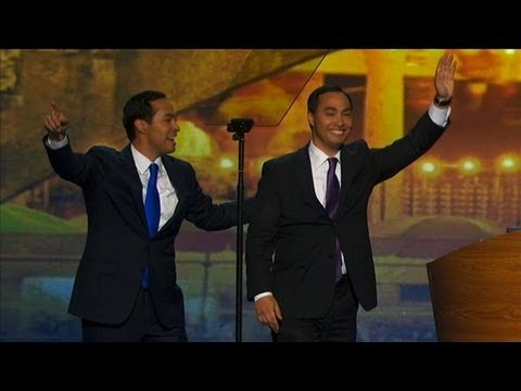Joaquin Castro Introduces His Twin Brother at DNC