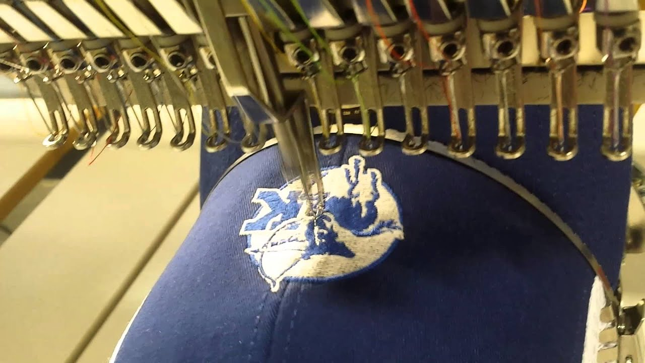 Commercial embroidery on new era fitted caps youtube