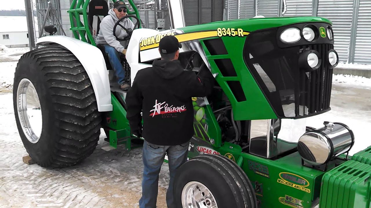 Pro Stock Pulling Tractors : Pro stock pulling tractor warm up youtube