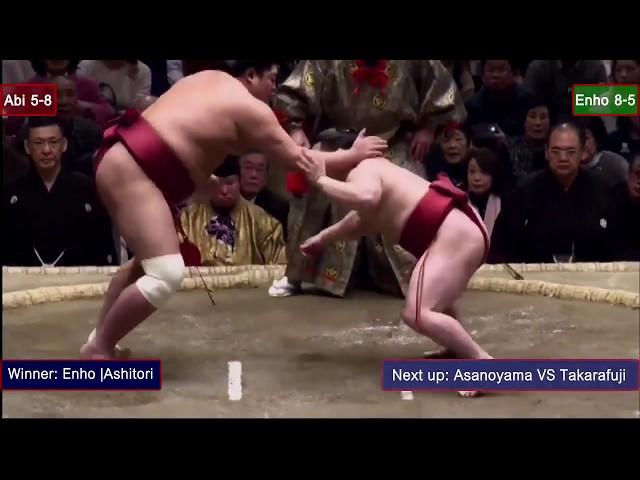 самый дохлый сумоист Энхо вынес 155кг-противника на руках