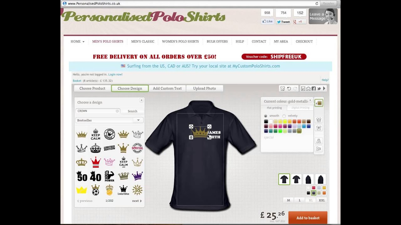 Free Design Male Clothes Software Personalised Polo Shirts