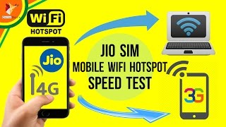 Jio Sim WIFI Mobile HotSpot Speed Test on 3G Mobile & Computer - Data Dock