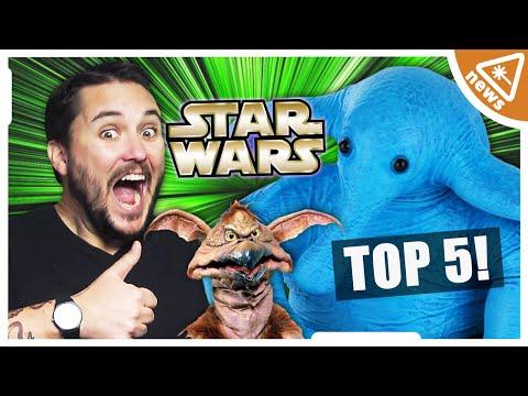 Top 5 Best Worst STAR WARS Creatures with Wil Wheaton! (Nerdist News w/ Jessica Chobot)