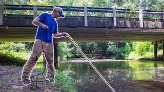 Magnet Fishing Under An Old Rural Bridge (1200lb Magnet)