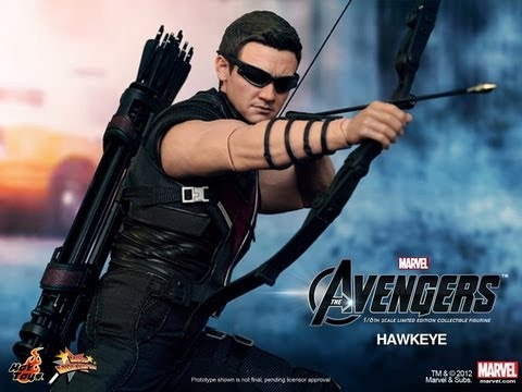 The Avengers Hot Toys Hawkeye Movie Masterpiece 1/6 Scale Collectible Figure Review
