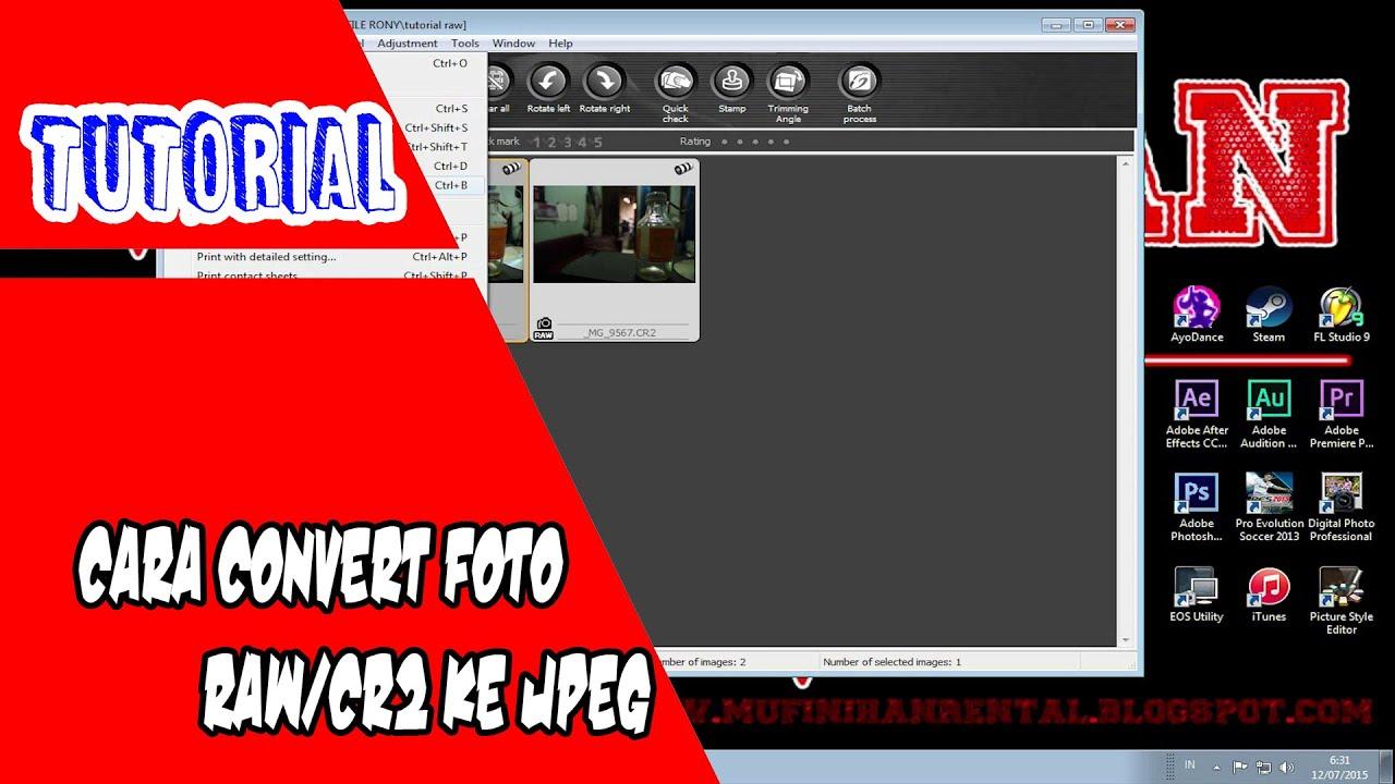 Как перевести фото из cr2 в jpg