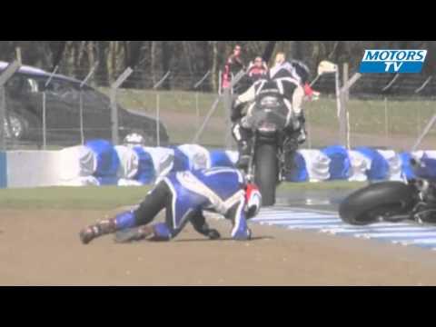 Мото авария на гонках Thundersport GB