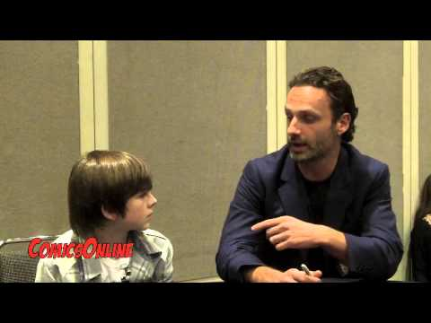 NYCC 2012: The Walking Dead - Chandler Riggs and Andrew Lincoln