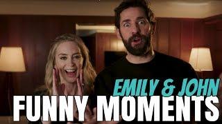 Emily Blunt & John Krasinski Cute Funny Moments