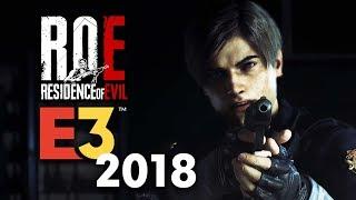 RESIDENT EVIL 2: REMAKE ANNOUNCEMENT!? E3 2018 | SONY | ROE 🔴LIVE