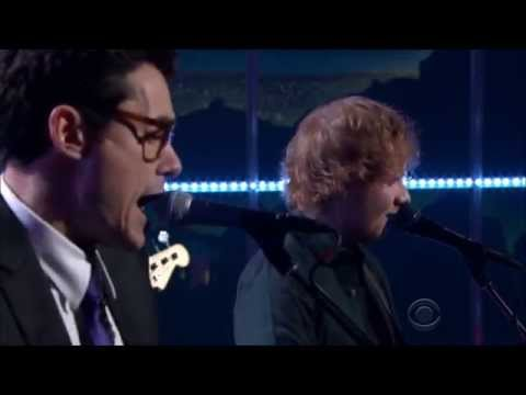 Ed Sheeran and John Mayer sing 'Don't' on Late Late Show 2-06-2015