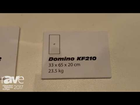 ISE 2017: K-Array Displays Domino KF212 and KF210 Pro-Audio Speakers